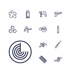 Gun icons vector