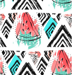 hand drawn abstract unusual summer time vector image