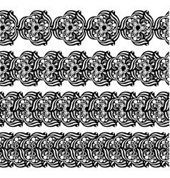 hand-drawn mehendi ornamental border vector image