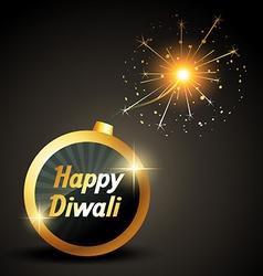 Happy diwali bomb vector