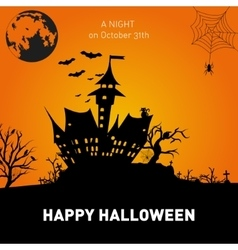 Happy Halloween Poster on orange background vector image