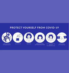 How to protect yourself from covid-19 vector