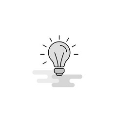 idea web icon flat line filled gray icon vector image