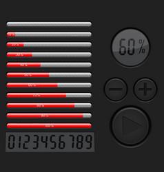Installation loading progress bar vector