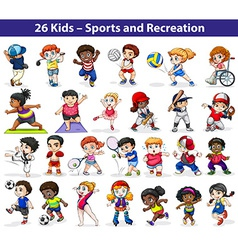 Kids engaging in different activities vector
