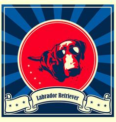 Labrador retriever dog poster vector