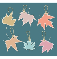 leaves labels vector image