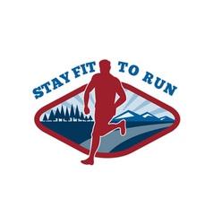 Marathon road runner jogger fitness vector