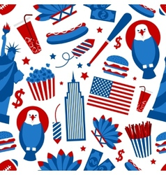 New York USA seamless pattern vector image