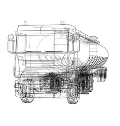 oil truck sketch vector image