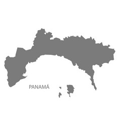 Panama state map grey vector