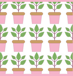 plant inside flowerpot to ecology preservation vector image