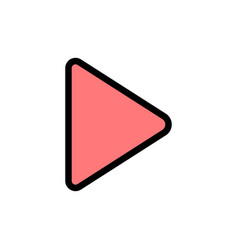 Play video twitter flat color icon icon banner vector