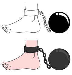 Prisoner ball vector image
