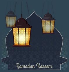 ramadan kareem holiday islam with vector image