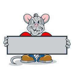 Rats with a sign in their hands for your text vector