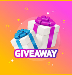 Realistic detailed 3d present box giveaway concept vector