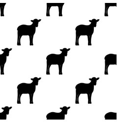 seamless background silhouette lambs vector image