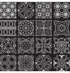 Seamless pattern from diamond cutting on black vector image