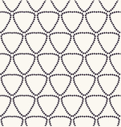 Seamless pattern hand drawn triangle dot grid vector