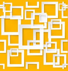 Seamless texture square for design on orange vector