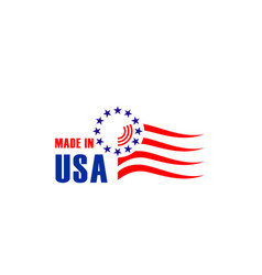 Sign made in usa vector