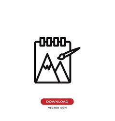 Sketchbook icon vector