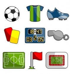 soccer object icon vector image