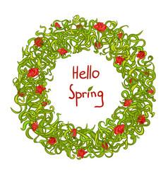 spring frame floral wreath vector image