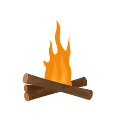 Start fire camp icon flat style vector