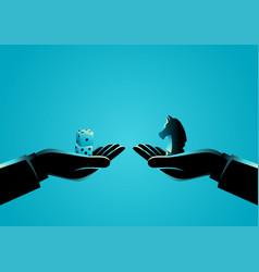 strategy versus speculation vector image