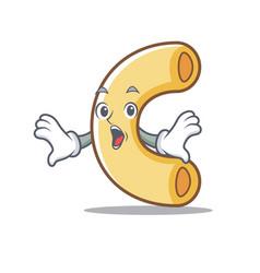 Surprised macaroni mascot cartoon style vector