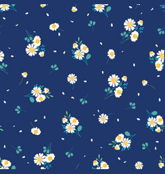sweet daisies ditsy seamless pattern design vector image