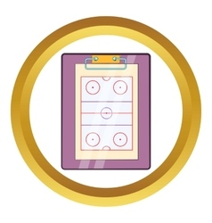 Tablet coach with tactical placement icon vector