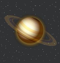 The Saturn in space vector