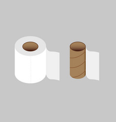 Toilet paper color vector