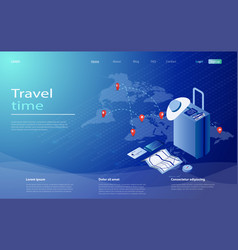travel and tourism booking concept travel vector image