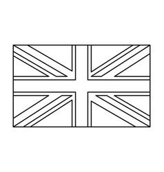 uk flag england symbol outline symbol icon design vector image