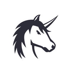 Unicorn logo element over white vector