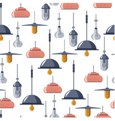 vintage and retro lamps light bulbs seamless vector image