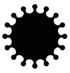 Virus sign symbol coronavirus and covid-19 vector