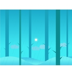 Wallpaper Landscape of Winter or Autumn Forest and vector