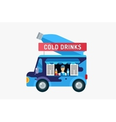 Water shop food car icon Nature product vitamin vector