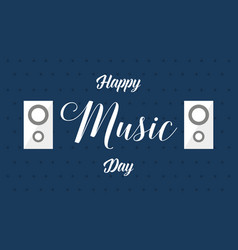 World music day banner background style vector