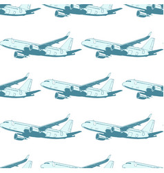 aircraft aviation airplane air transport seamless vector image vector image
