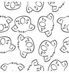 animal head art of doodles vector image vector image