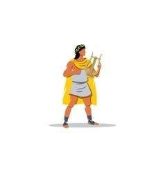 Apollo sign Mythological Greek guardian god of vector image