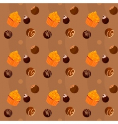 cupcakes and sweets vector image