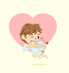 cupid character vector image vector image