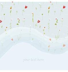 Elegant floral greeting card for wedding or vector image
